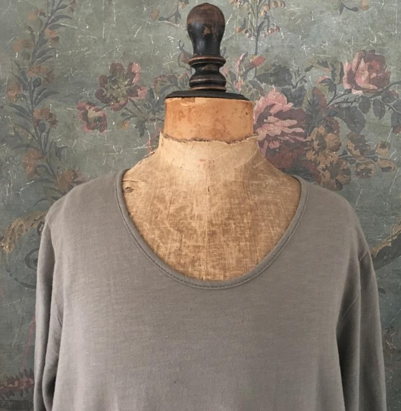 Robe longue VELOURS & COTON TAUPE - Le Monde de Rose
