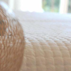 Couvre-lit PLUMETIS blanc