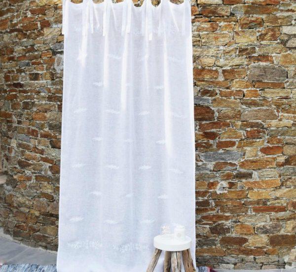 Rideau en lin blanc SAINT PAUL DE VENCE