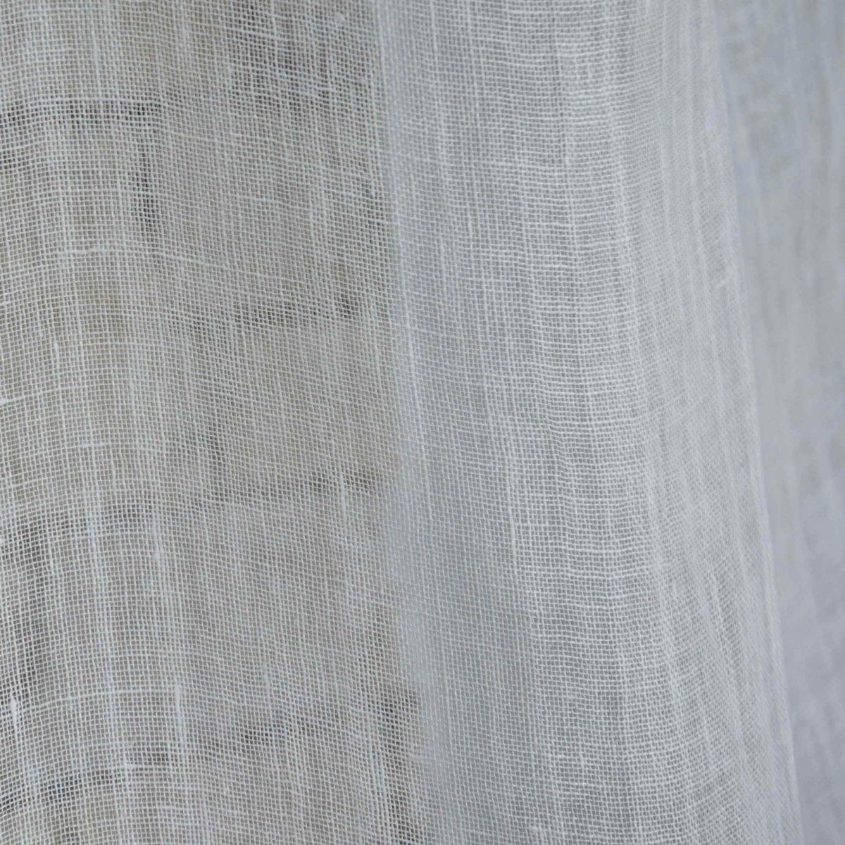 rideau voilage mod le gaze de lin fine ivoire le monde de rose. Black Bedroom Furniture Sets. Home Design Ideas