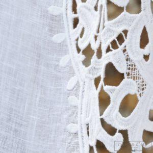Rideau gaze de lin blanc Modèle EZE