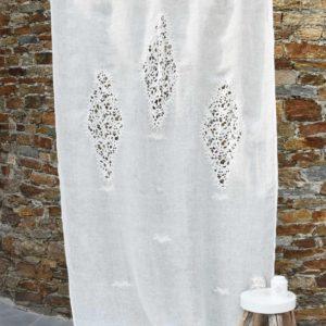 Rideau gaze de lin ivoire Modèle EZE