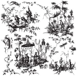 Tampon IOD Modèle TOILE CHINOISERIE