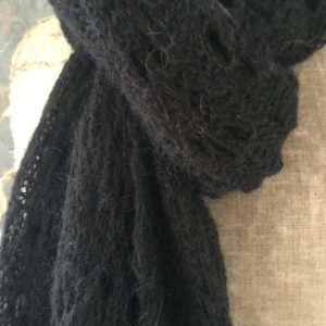 Écharpe chale femme en lainage noire