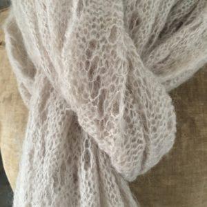 Écharpe en lainage beige