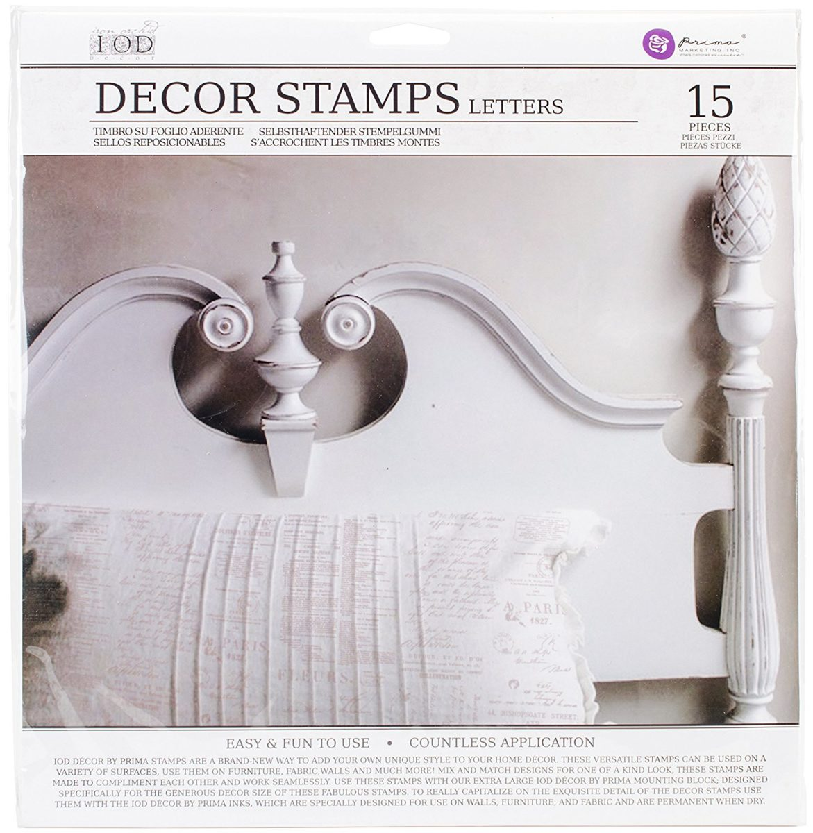 tampon iod mod le letters le monde de rose. Black Bedroom Furniture Sets. Home Design Ideas