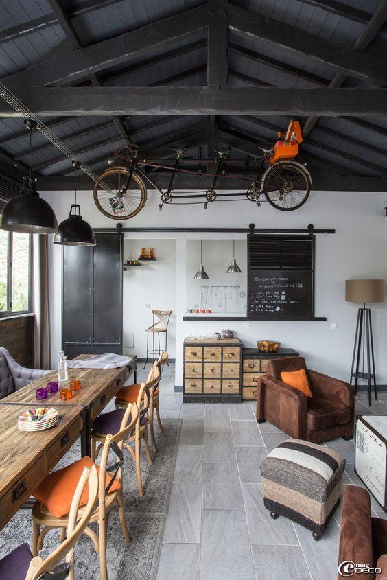 deco industrielle le monde de rose. Black Bedroom Furniture Sets. Home Design Ideas