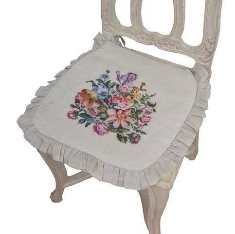 galette de chaise coquecigrues mod le ouvrages de dames le monde de rose. Black Bedroom Furniture Sets. Home Design Ideas