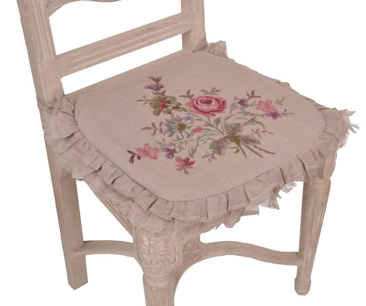 Galette de chaise coquecigrues mod le pastorale le monde - Modele galette de chaise ...