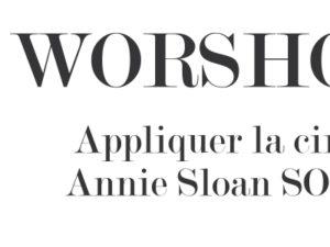 Appliquer la cire foncée Annie Sloan SOFT WAX