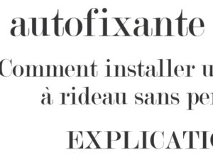 Comment installer une tringle a rideau sans percage : tringle autofixante PRESTO
