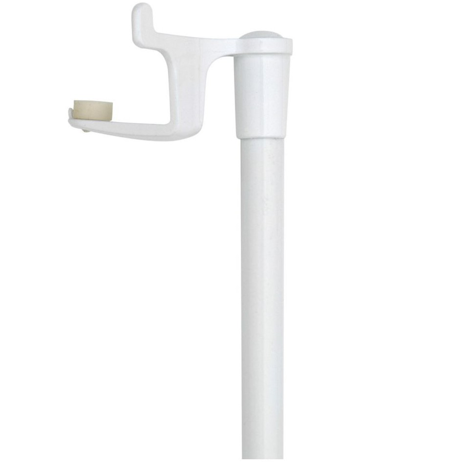 Tringle Voilage Sans Percer tringle presto basic blanc 30-45 cm