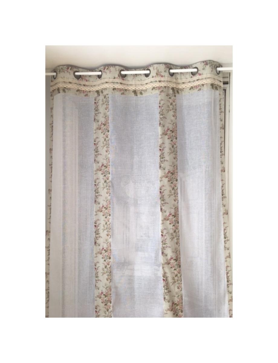 rideau roses anciennes illets le monde de rose. Black Bedroom Furniture Sets. Home Design Ideas
