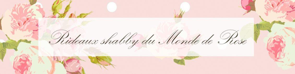 rideaux shabby du monde de rose
