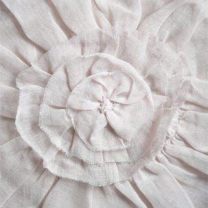 Housse de coussin lin rose poudré JDL
