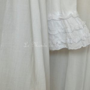 Robe blanche SHABBY romantique
