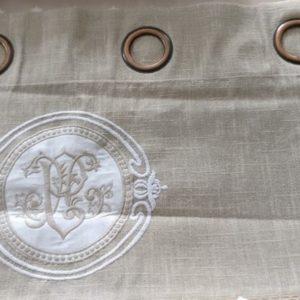 Rideau voilage Modèle MONOGRAMME ivoire
