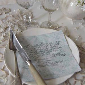 Serviettes en papier Manuscrit JDL