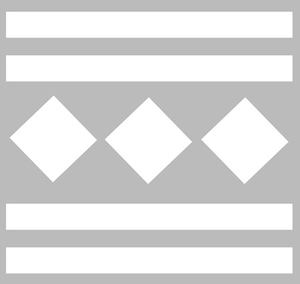 Pochoir carreaux ciment Modèle U