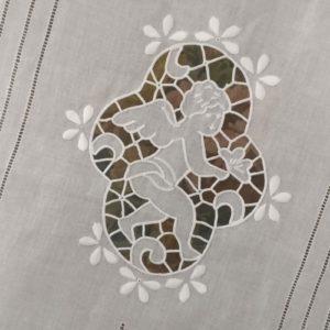 Brise bise blanc brodé ANGE RICHELIEU - La paire