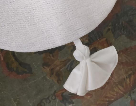Cantonnière en lin blanc 45x26cm