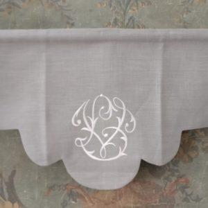Cantonnière en lin gris Modèle ANEMONE