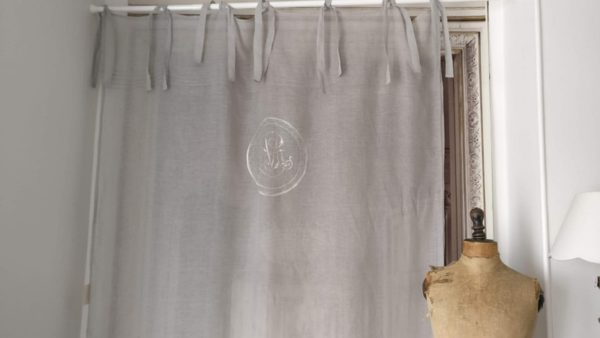 Rideau lin Modèle MOZART gris