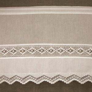 Cantonnière blanche Modèle TRADITION crochet