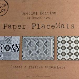 Lot de sets de table papier BEIJA FLOR Special edition