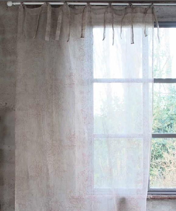 Rideau lin Modèle BOTANICAL - La paire