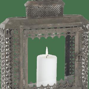 Lanterne carrée verre et métal