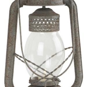 Lanterne métal vieilli et verre