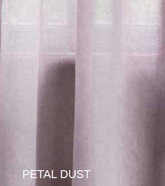 Rideau lin Modèle PETAL DUST - La paire