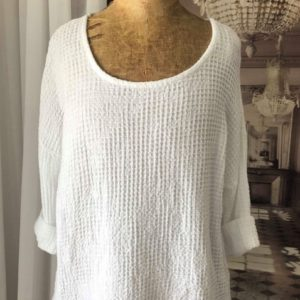 Pull COTON nid d'abeille