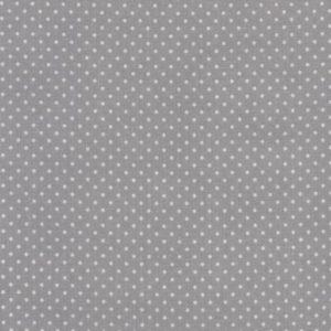 Toile enduite MODÈLE PETITS POIS BLANCS fond gris