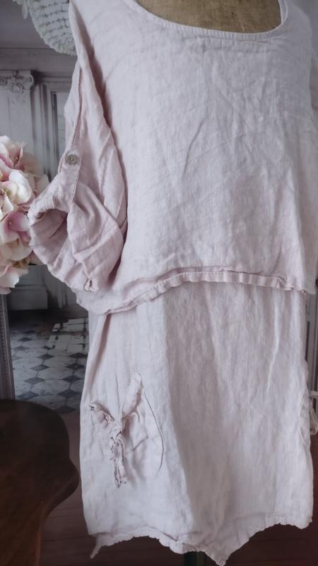 Ensemble LIN chemise longue et courte