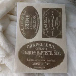 Décorations papier JDL Modèle CHAPELLERIE GUÉRAULT 2