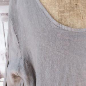 Robe en LIN taupe