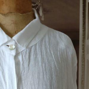 Chemise longue LIN blanc