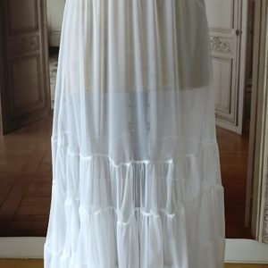 Jupon long en TULLE blanc