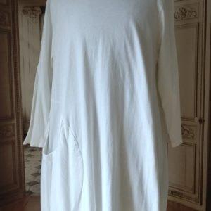 Robe COTON blanc