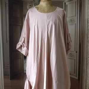 Robe COTON vieux rose