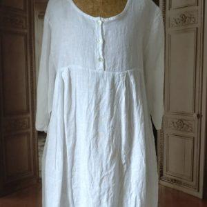Robe LIN blanc MODÈLE 1