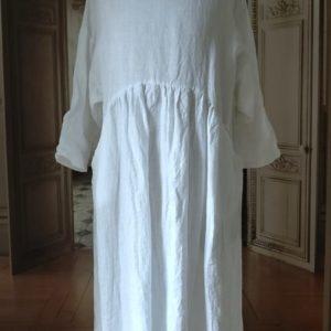 Robe LIN blanc MODÈLE 2