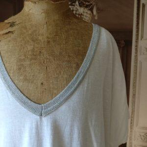 T-shirt LONG blanc