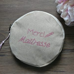 Pochette à message ronde MERCI MAÎTRESSE