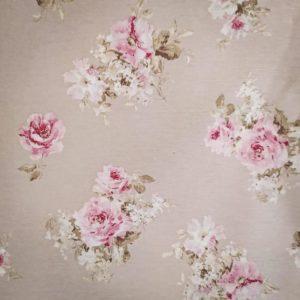 Tissu shabby détail motif roses petites fleurs fond beige/lin largeur 280 cmTissus shabby détails motif roses grandes fleurs fond beige/lin largeur 280 cm